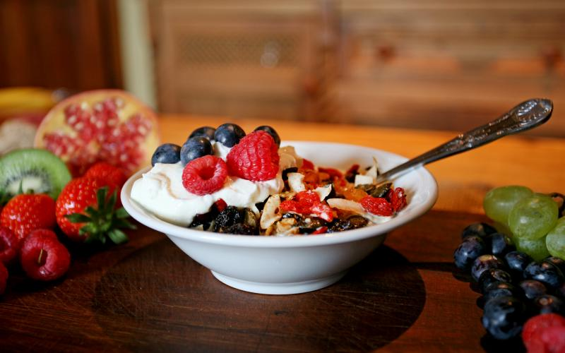 Rigney's granola with goji berries, flame raisins and so much more