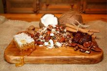 Rigney's granola with whole pecans, cinnamon and dates.